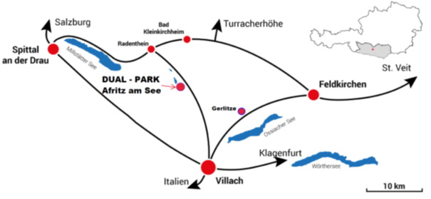Kaart | Afritz am See | DualResorts